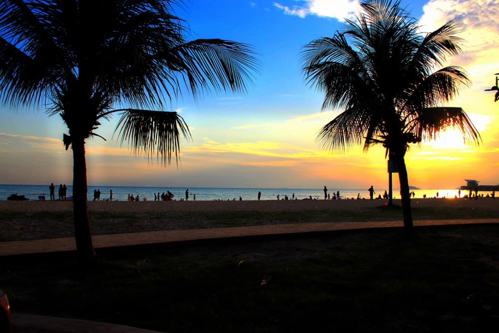 Sunset on the beach in Port Dickson