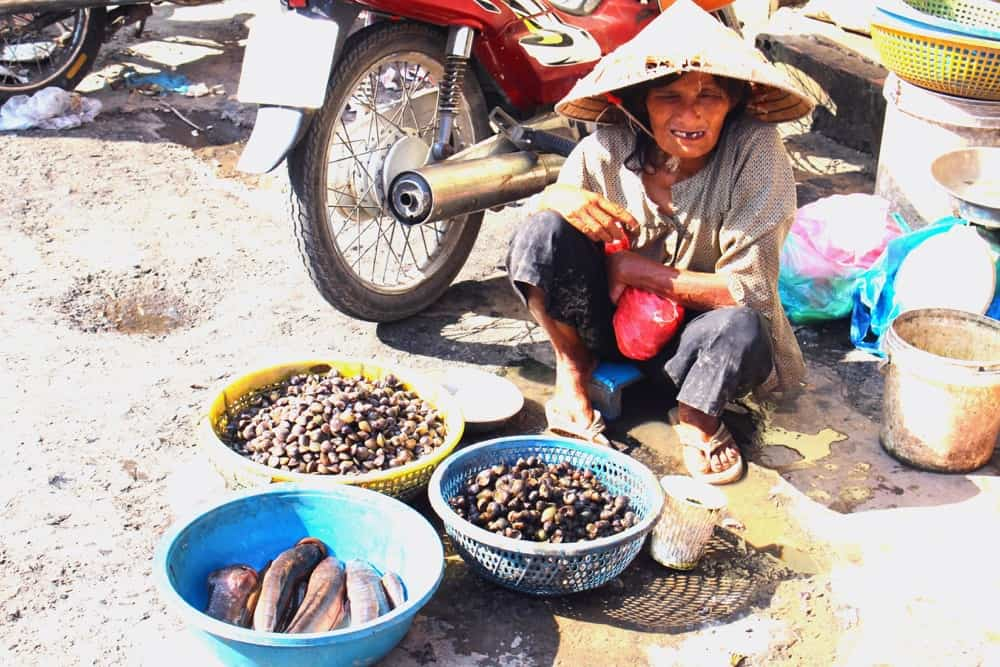 Local market in Vietnam