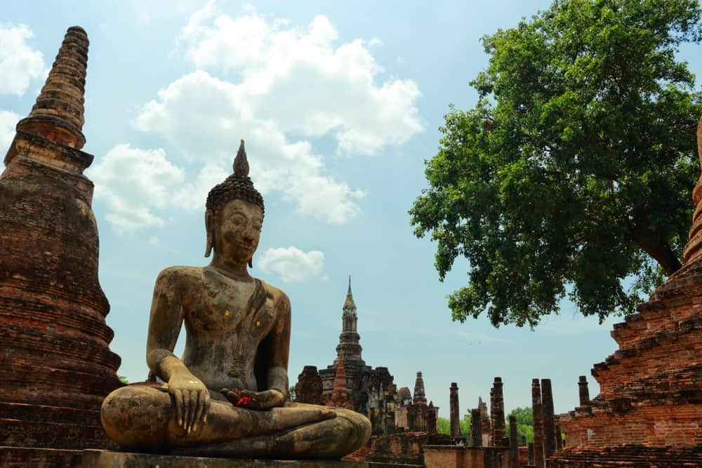 Ancient sculptures of Sukhothai Historical Park