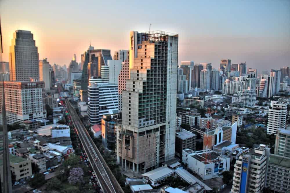 Sky scrappers in Bangkok