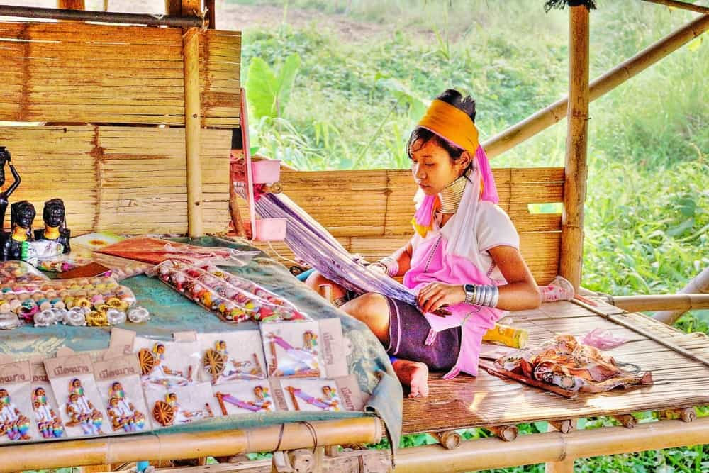 Long neck tribe in Chiang Rai province