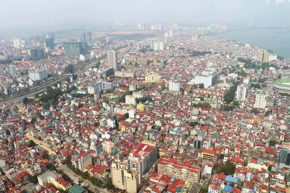 Hanoi form the above