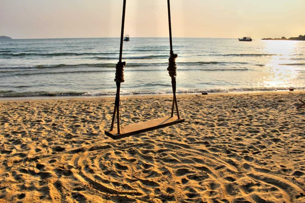 Swing on the beach at Koh Chang island