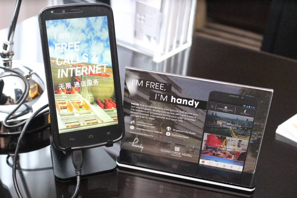 Free smartphone at Concorde Hotel Singapore