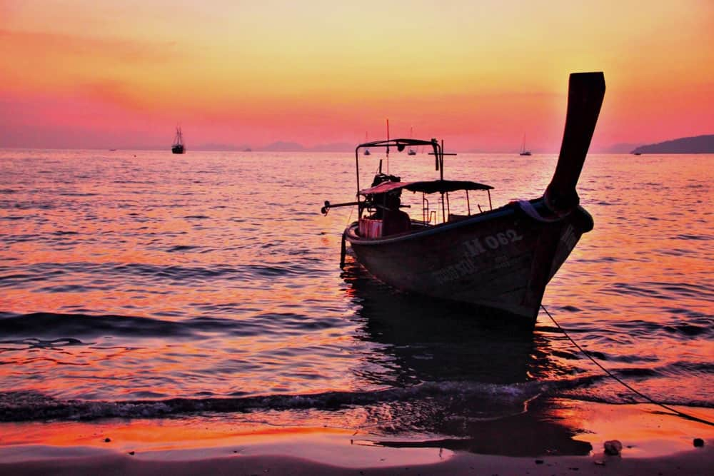 Railay Beach is one of the most famous in Thailand.