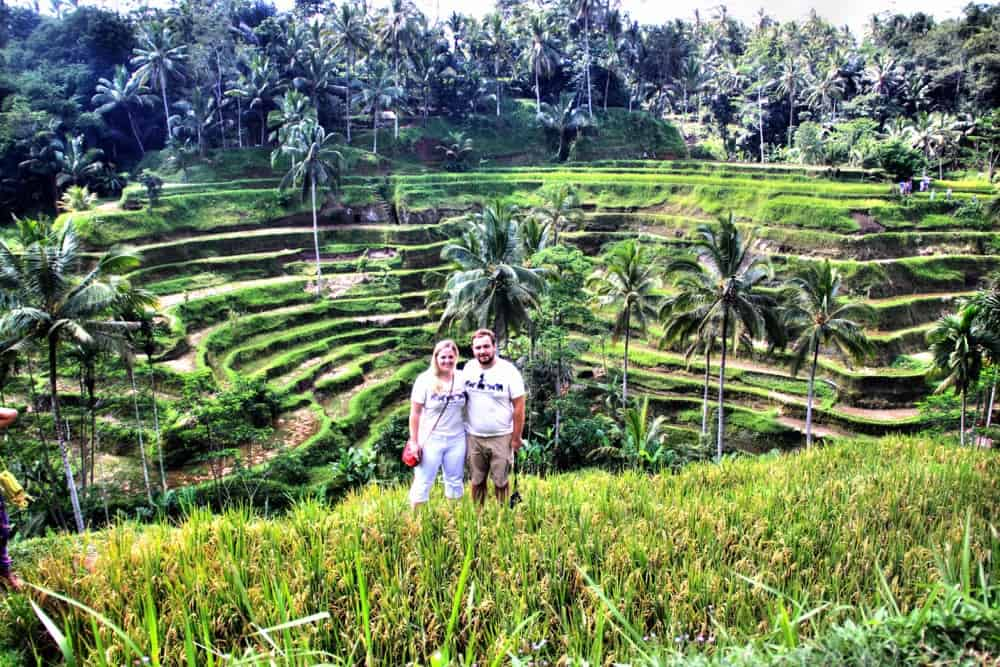 Karolina and Patryk on the rice fields