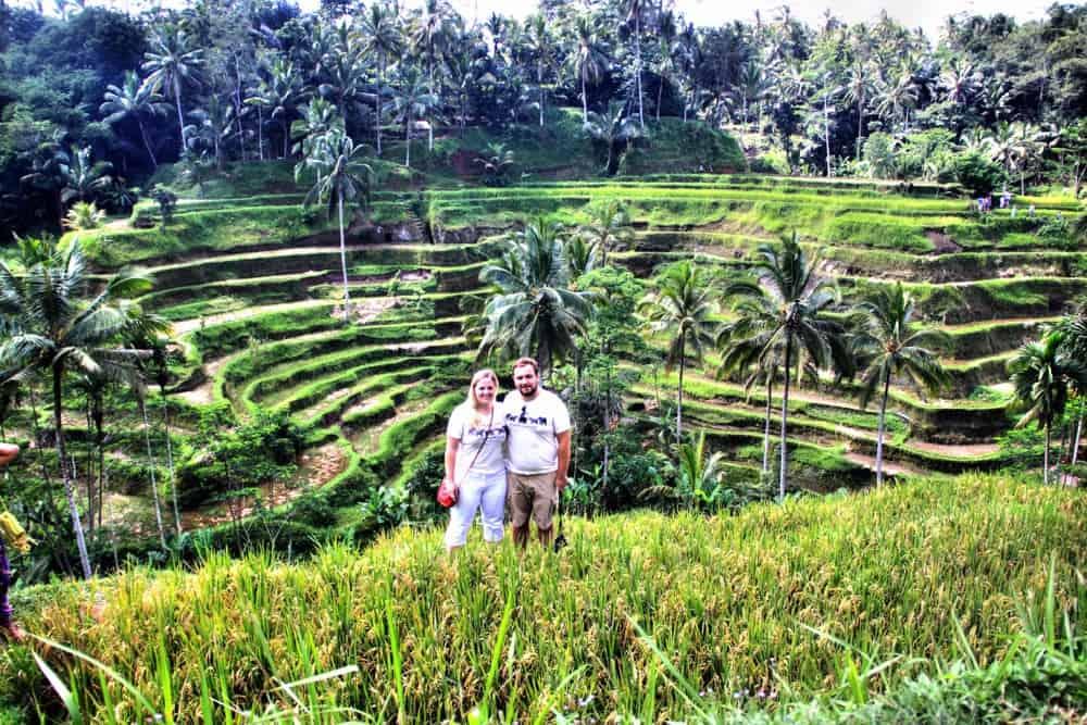 Karolina and Patryk on the rice fields