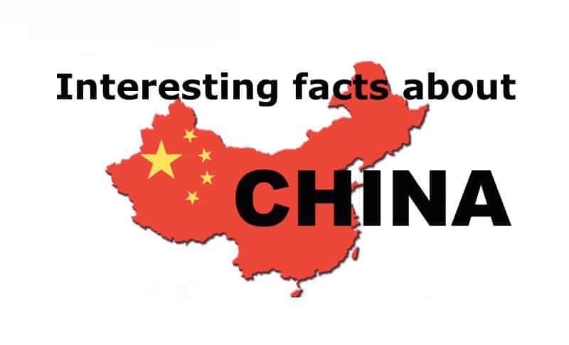 interesting facts about china Geography facts about china:china is the fourth largest country in the world the total area of china is listed as 9,572,900 km by encyclopædia britannica.