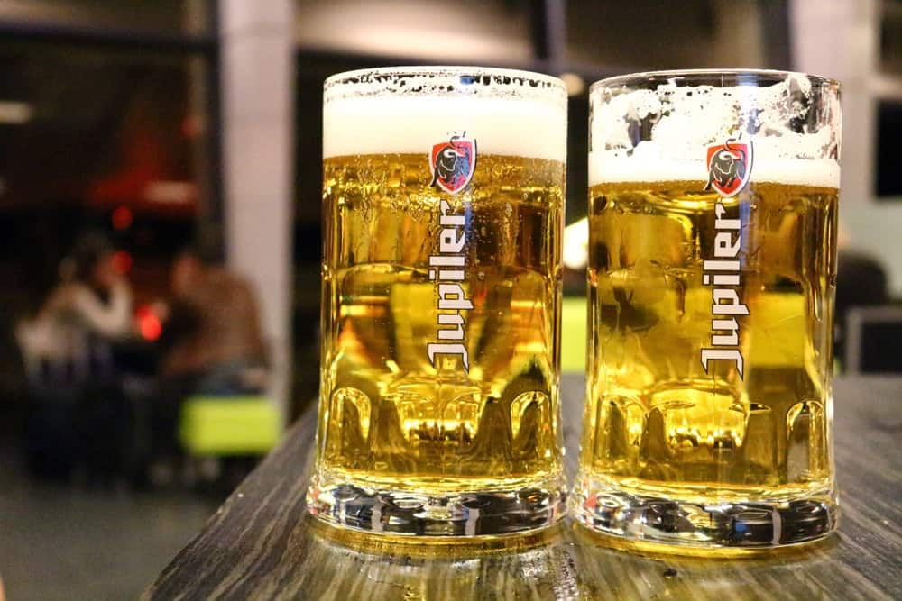 Two full pints of beer Fun fact about Germany: the beer culture