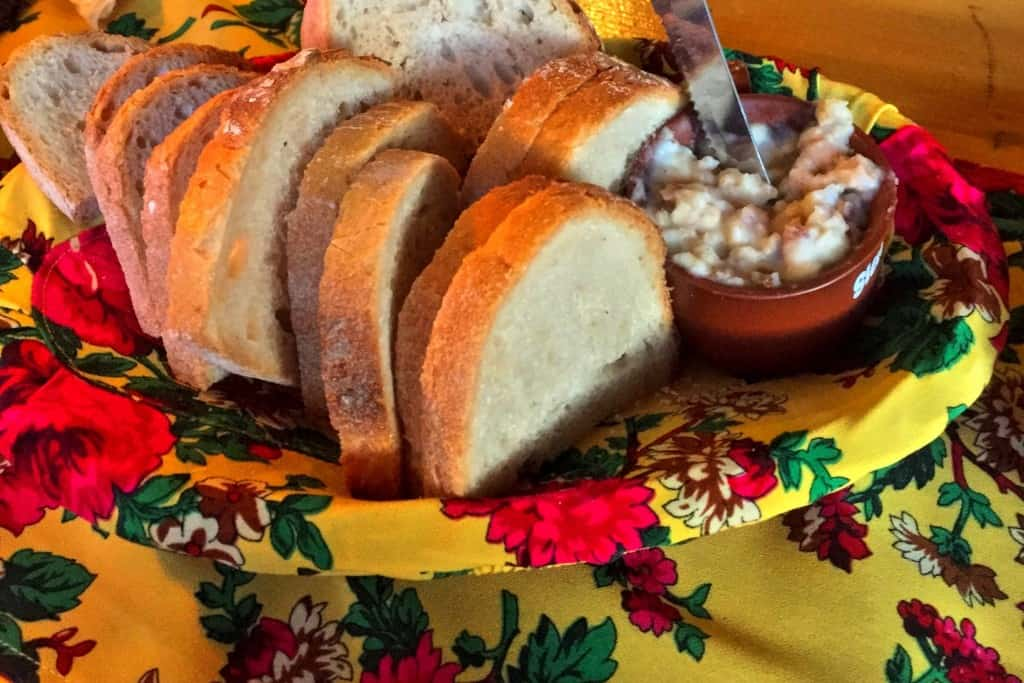 Bread with lard in Poland