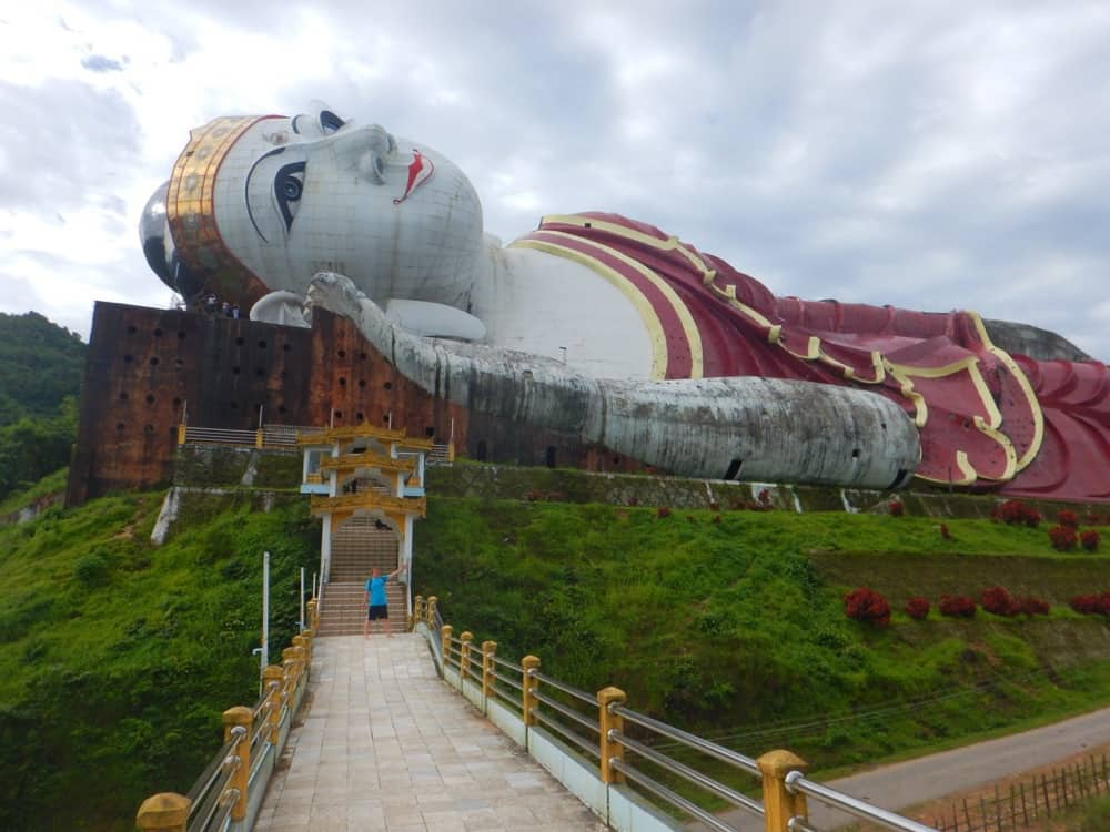 Win Sein Reclining Buddga in Mawlamyine, Myanmar by Jen at Two Can Travel