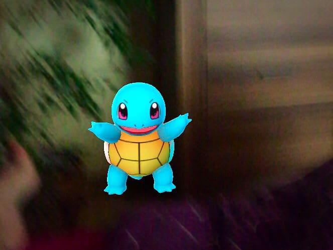 Catching pokemons at Pokemon Go