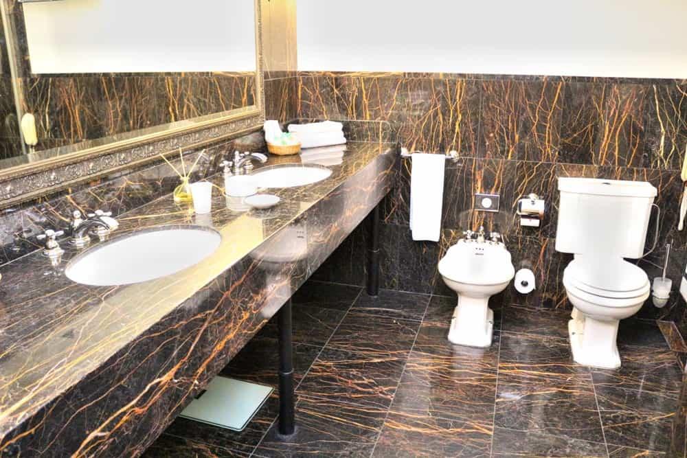 Bathroom at luxury hotel