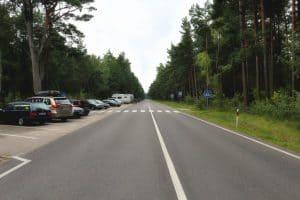 Empty road in Nida