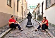 Having fun at Riga's Old Town