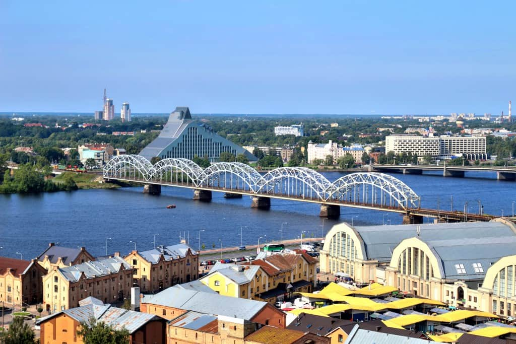 The Railway Bridge in Riga