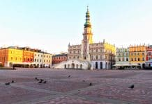 Beautiful old city in Zamosc
