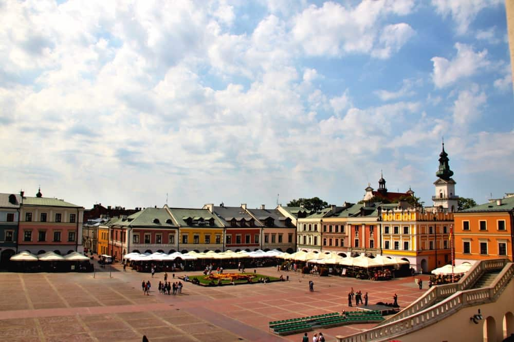 Old city in Zamosc Poland