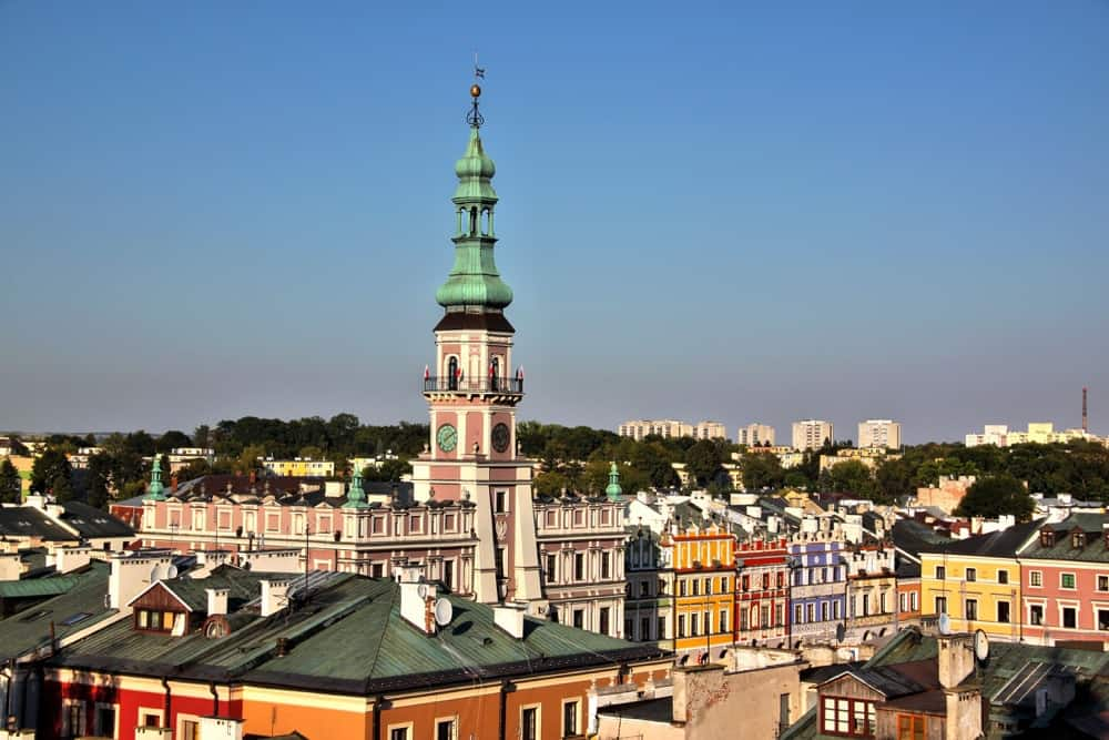 Going up the Cathedral is one of the top things to do in Zamosc.