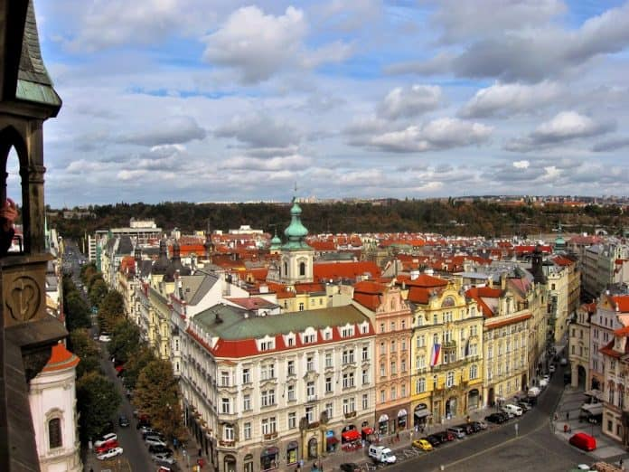 Prague from the above
