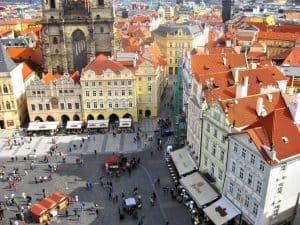 Aerial view on Prague