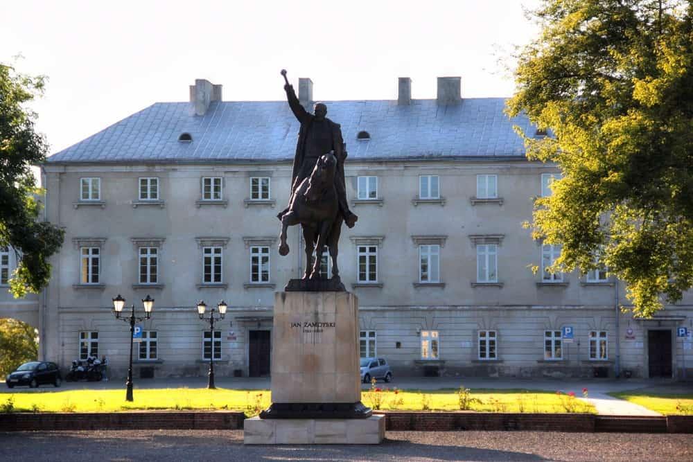 Zamoyski monument in Zamosc