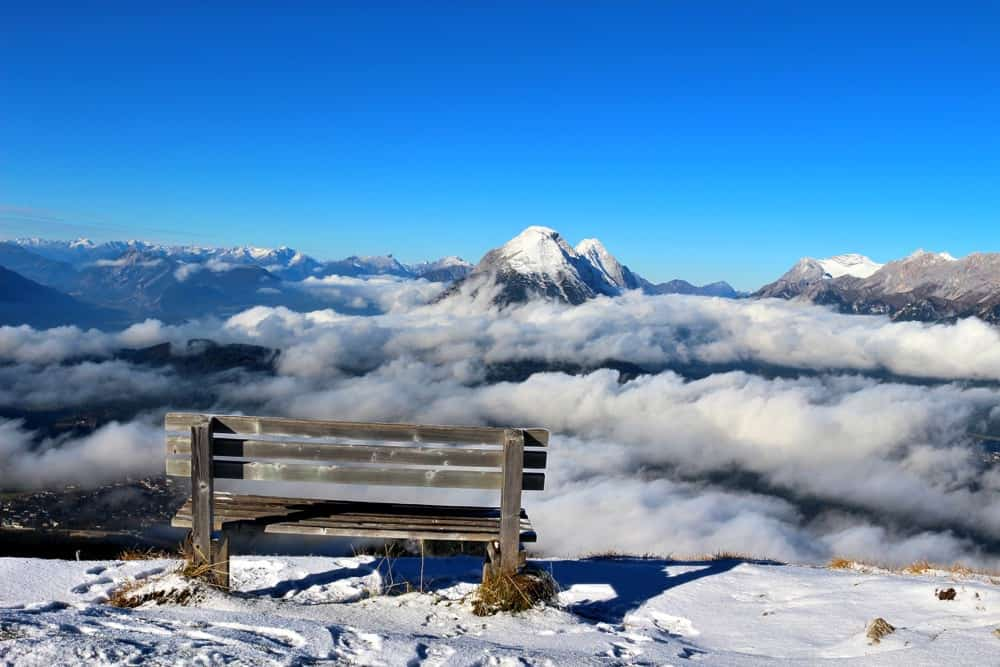 Bench Seefeld Snow