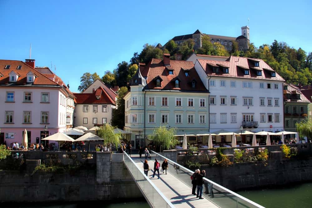 ljubljana old town bridge canals slovenia beautiful places