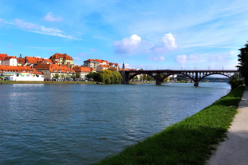 maribor bridge river most beautiful places in Slovenia