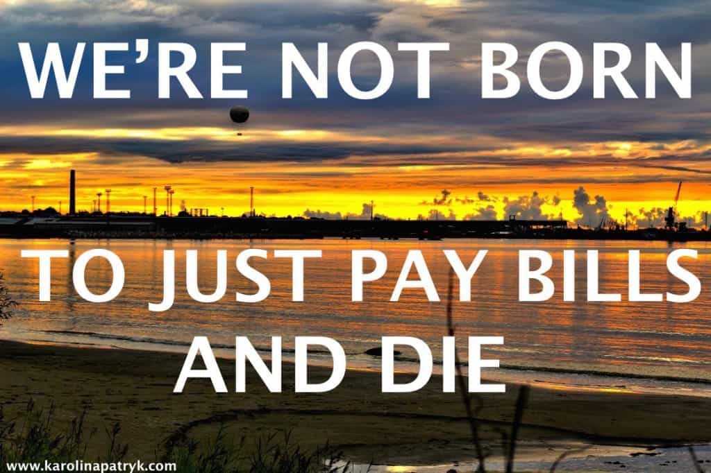 we-are-not-born-to-just-pay-bills-and-die Travel quotes