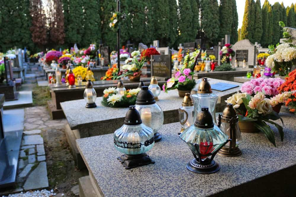 A Polish cemetery on All Saints' Day Poland