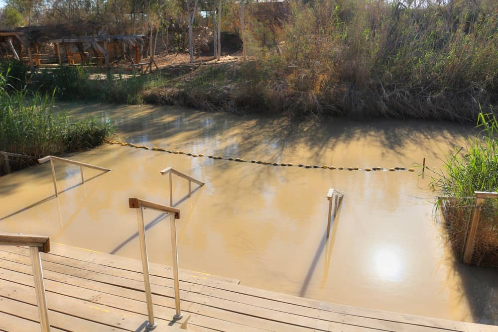 Jordan River today Israeli side