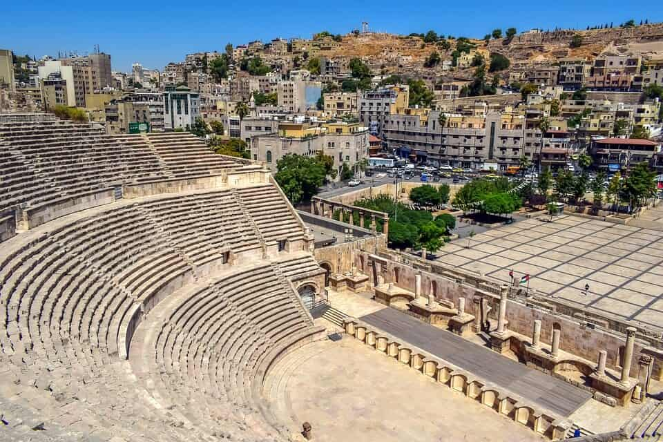 Jordan interesting facts: There's a 2nd century Roman theatre next to the city