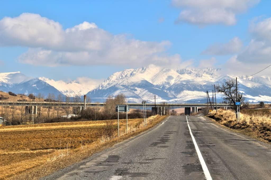 The road to Zakopane