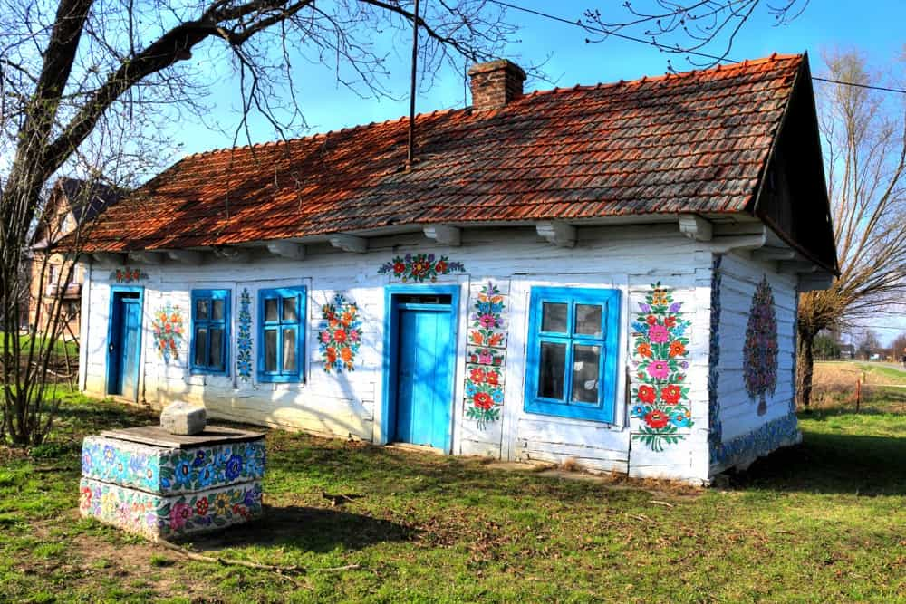 Be sure to visit Zalipie, the most colorful village in Poland during your trip to the country.
