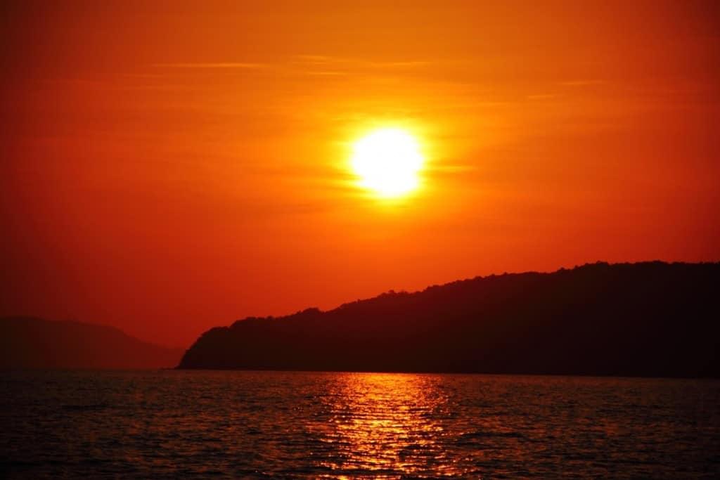 asia cruise sunset
