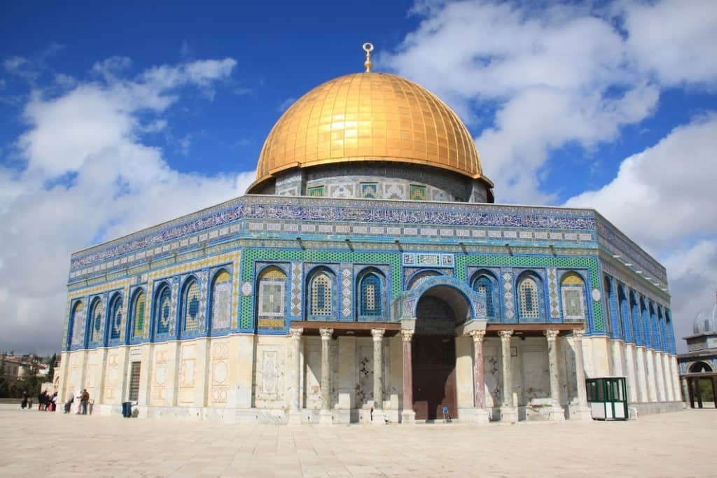 Dome of the Rock israel golden roof