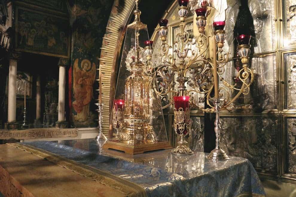 Golgotha altar holy sepulcher church