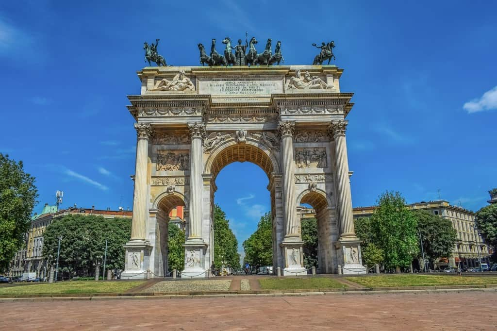 Milan monument Italy
