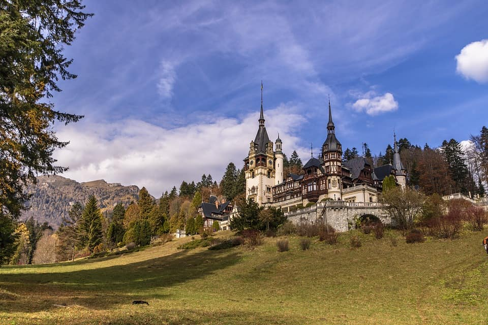 Beautiful castle in Romania