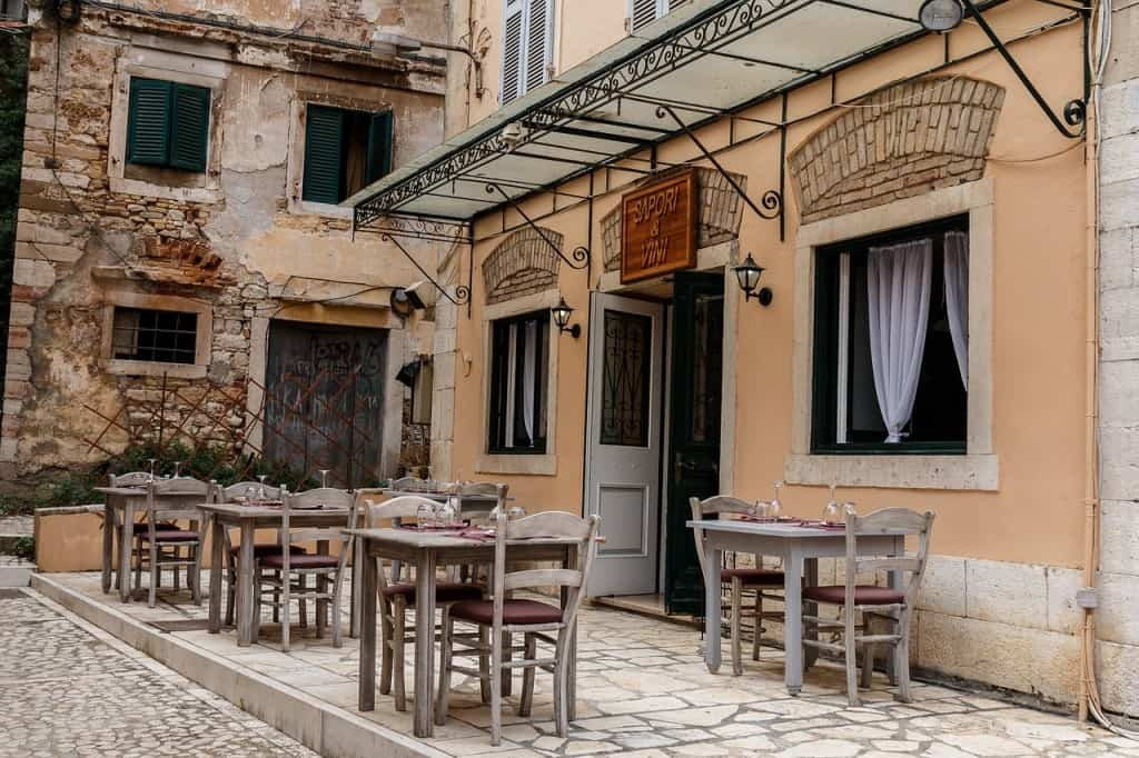 Sweet little Corfu cafe