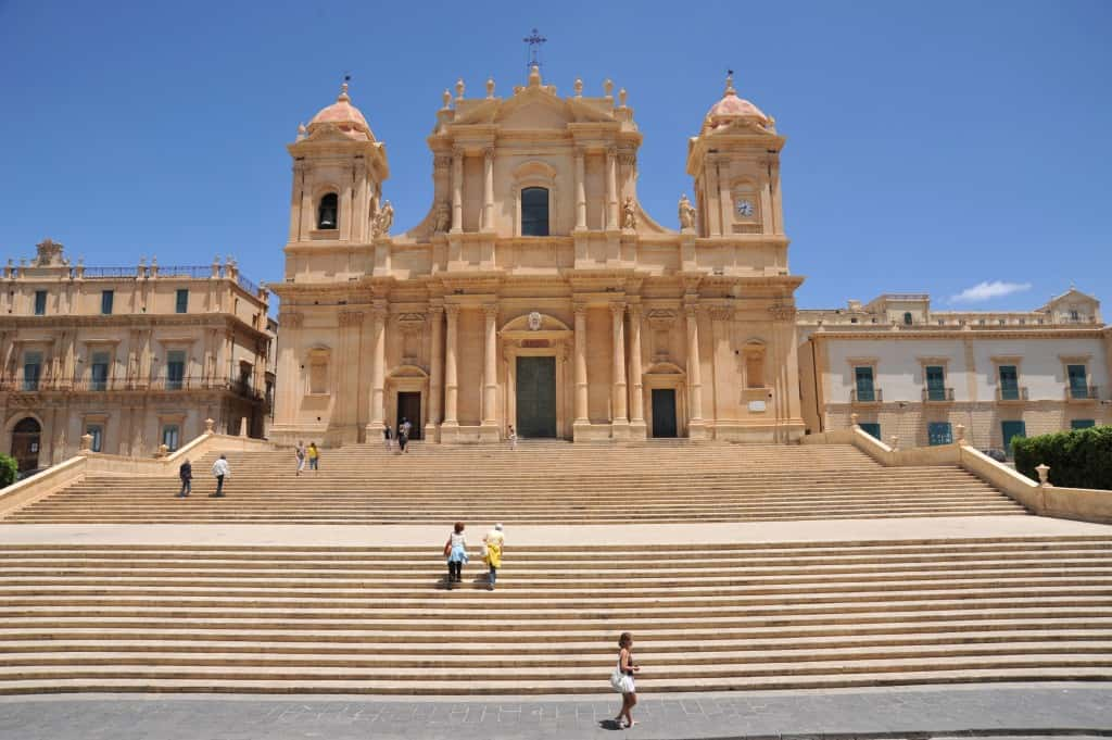 Noto is famous for its baroque style