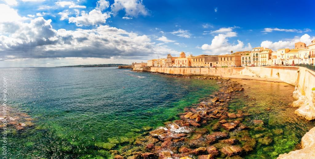 Ortigia is an island connected to the mainland