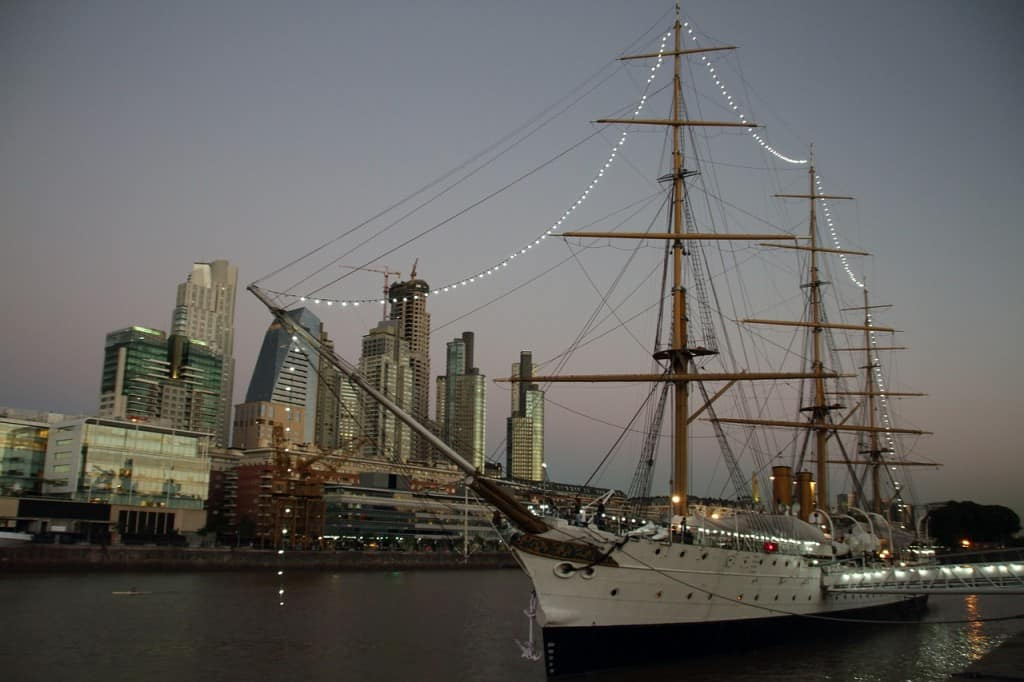 The Puerto Madero dockside of Buenos Aires