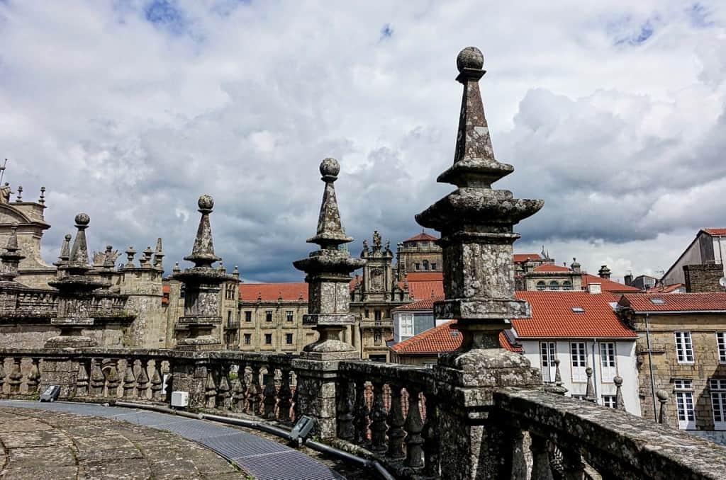 Santiago de Compostela is famous for the pilgramage, the Camino de Santiago.