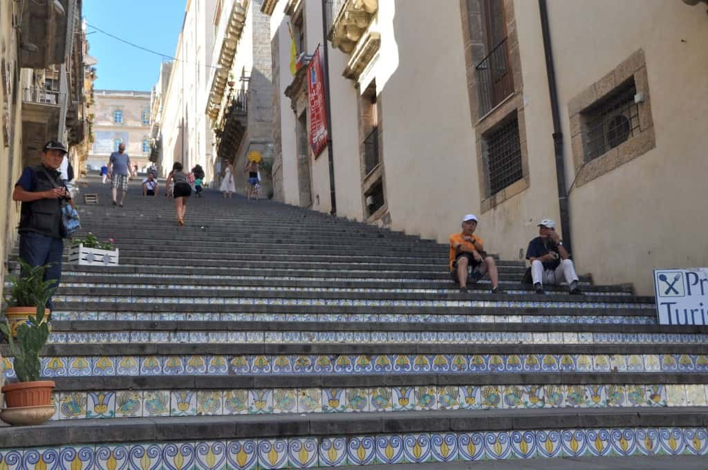 the famous Caltagirone stairway