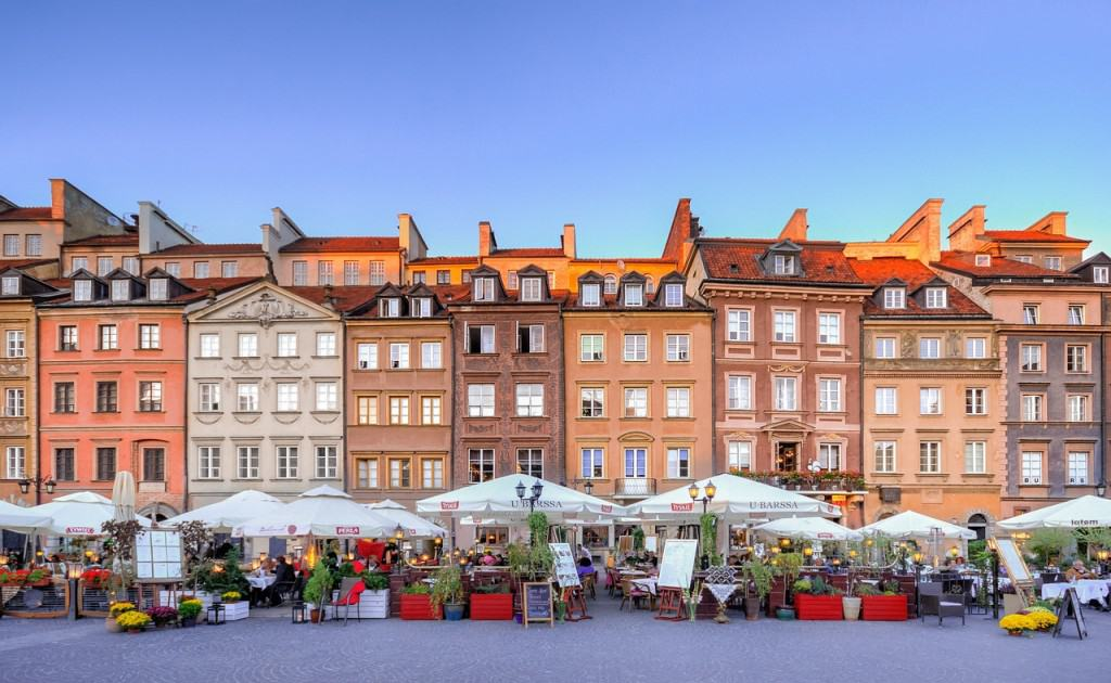 The quaint Old Town of Warsaw