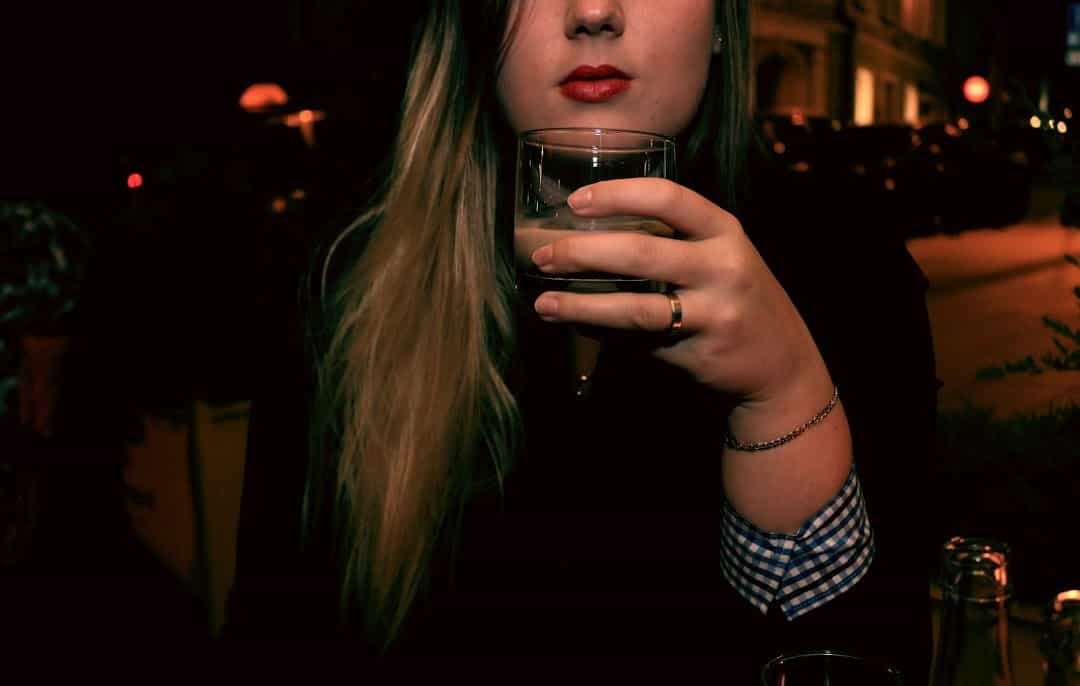 drinking woman face