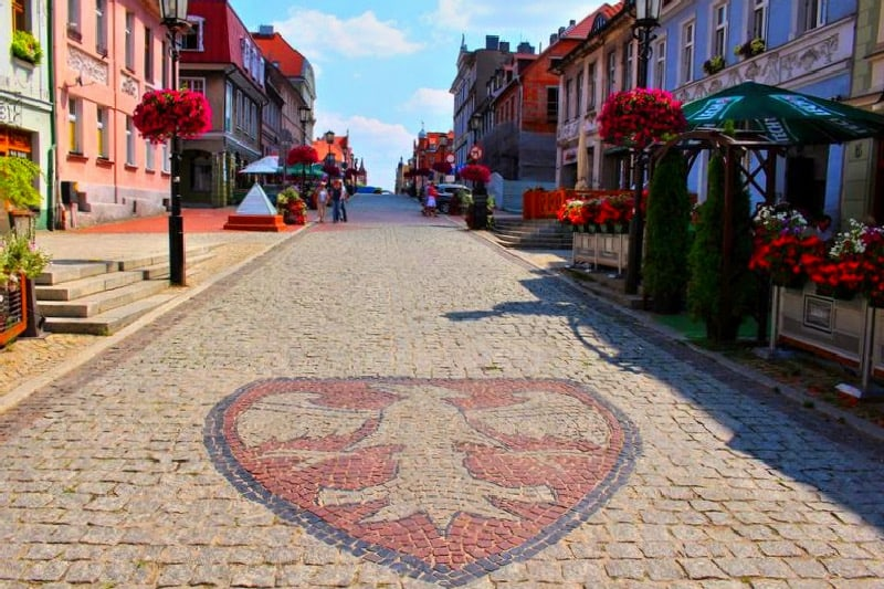 old town in Gniezno city crest