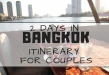 romantic 2 days in bangkok